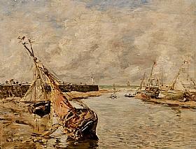 Eugène Boudin, bateaux à marée basse - GRANDS PEINTRES / Boudin