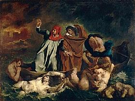 Eugène Delacroix, Dante et Virgile aux enfers - GRANDS PEINTRES / Delacroix