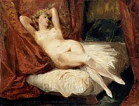 Eugène Delacroix, La femme aux bas blancs - GRANDS PEINTRES / Delacroix