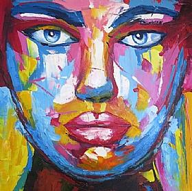 Désirs et Passions, Femme au regard paisible - PEINTURES / Tableaux Figuratifs