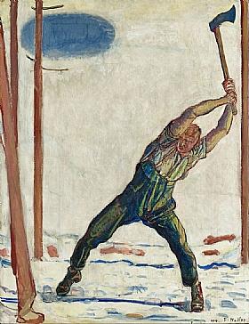 Ferdinand Hodler, Le bucheron - GRANDS PEINTRES / Hodler
