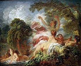 Jean-Honoré Fragonard, Baigneuses - GRANDS PEINTRES / Fragonard