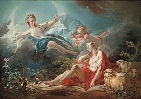 Jean-Honoré Fragonard, Diane et Endymion - GRANDS PEINTRES / Fragonard