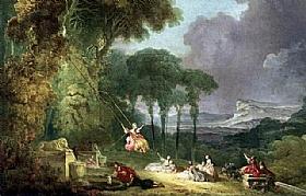 Jean-Honoré Fragonard, La balancoire - GRANDS PEINTRES / Fragonard