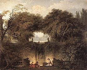 Jean-Honoré Fragonard, Le petit parc - GRANDS PEINTRES / Fragonard