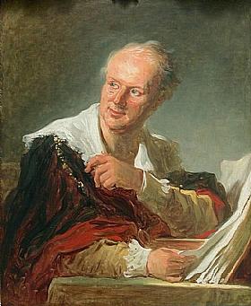 Jean-Honoré Fragonard, Portrait de Diderot - GRANDS PEINTRES / Fragonard