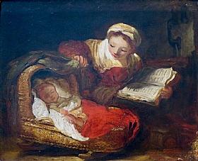 Jean-Honoré Fragonard, La mère attentive - GRANDS PEINTRES / Fragonard