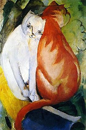 Franz Marc, Chats roux et blanc - GRANDS PEINTRES / Marc