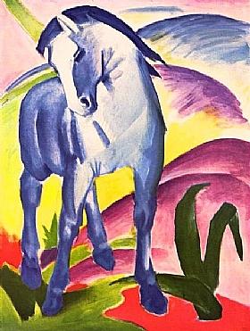Franz Marc, Le cheval Bleu - GRANDS PEINTRES / Marc