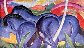 Franz Marc, Grands chevaux bleus - GRANDS PEINTRES / Marc