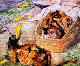 Franz Marc, Le panier des chats - GRANDS PEINTRES / Marc