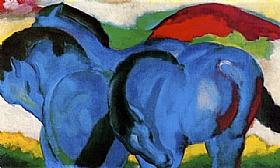 Franz Marc, Les petits chevaux bleus - GRANDS PEINTRES / Marc