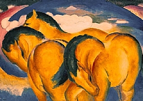 Franz Marc, Les petits chevaux jaunes - GRANDS PEINTRES / Marc