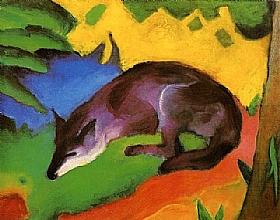 Franz Marc, Le renard bleu noir - GRANDS PEINTRES / Marc
