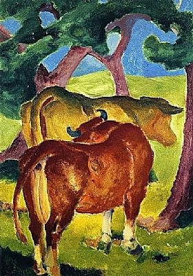 Franz Marc, Vaches sous un arbre - GRANDS PEINTRES / Marc