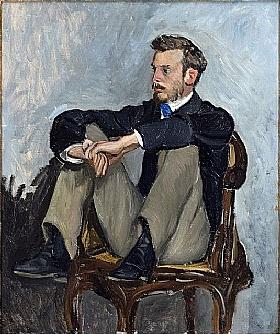 Frederic Bazille, Portrait de Pierre-Auguste Renoir - GRANDS PEINTRES / Bazille