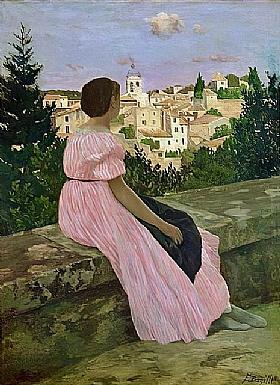 Frédéric Bazille, La robe rose - GRANDS PEINTRES / Bazille