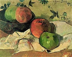 Paul Gauguin, Pommes & coupe - A l'ami Jacob - GRANDS PEINTRES / Gauguin