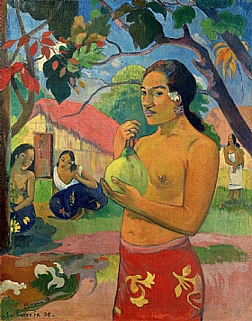 Paul Gauguin, Femme avec un fruit - GRANDS PEINTRES / Gauguin