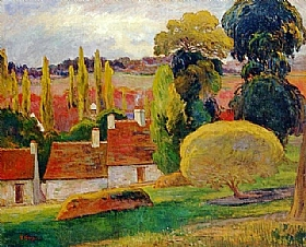 Paul Gauguin, Fermes - GRANDS PEINTRES / Gauguin