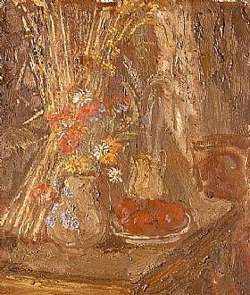 Georges Bouche, Coin de table aux tomates - GRANDS PEINTRES / Bouche