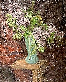 Georges Bouche, Lilas dans un vase - GRANDS PEINTRES / Bouche