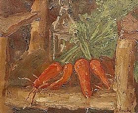 Georges Bouche, Nature morte aux carottes - GRANDS PEINTRES / Bouche