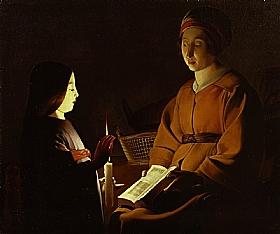 Georges de La Tour, L'éducation de la vierge - GRANDS PEINTRES / De la Tour