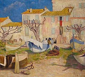 Georges-Émile Lebacq, A Cros de Cagnes en Provence - GRANDS PEINTRES / Lebacq