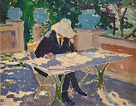 Georges-Émile Lebacq, Lumière d'été à Cagnes sur Mer - GRANDS PEINTRES / Lebacq