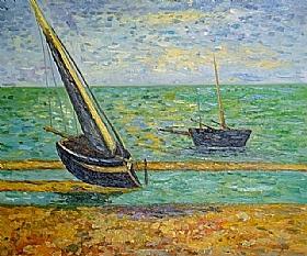 Georges Seurat, Bateaux à marée basse - GRANDS PEINTRES / Seurat