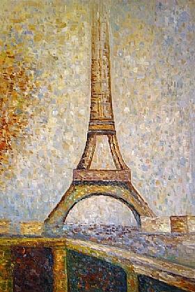 Georges Seurat, La Tour Eiffel - GRANDS PEINTRES / Seurat