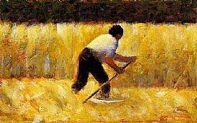 Georges Seurat, Le faucheur - GRANDS PEINTRES / Seurat