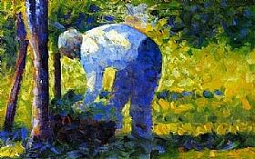 Georges Seurat, Le jardinier - GRANDS PEINTRES / Seurat