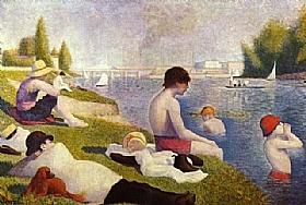 Georges Seurat, Une baignade à Asnières - GRANDS PEINTRES / Seurat