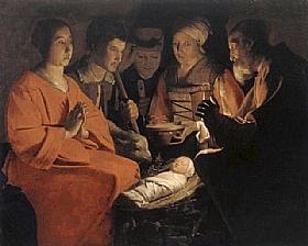 Georges de La Tour, L'adoration des Bergers - GRANDS PEINTRES / De la Tour