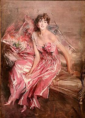 Giovanni Boldini, Femme en rose - GRANDS PEINTRES / Boldini