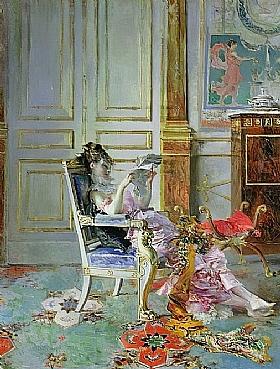 Giovanni Boldini, Jeune fille lisant - GRANDS PEINTRES / Boldini