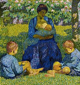 Giovanni Giacometti, Maternité - GRANDS PEINTRES / Giacometti