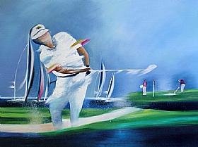 Sport et bien être, Golfeur et Voiliers - PEINTURES / Tableaux Sports