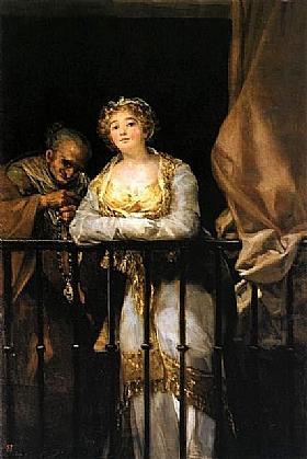 Francisco de Goya, Dame au balcon - GRANDS PEINTRES / Goya