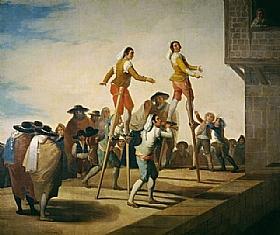 Francisco de Goya, Les échasses - GRANDS PEINTRES / Goya