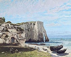 Gustave Courbet, Falaises d'Etretat après la tempête - GRANDS PEINTRES / Courbet