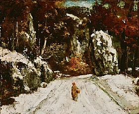 Gustave Courbet, Hiver dans le Jura - GRANDS PEINTRES / Courbet
