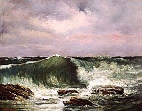 Gustave Courbet, La Vague - GRANDS PEINTRES / Courbet