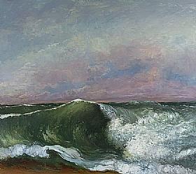 Gustave Courbet, Une vague - GRANDS PEINTRES / Courbet