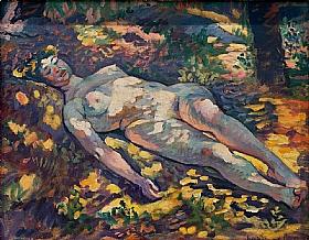 Henri-Edmond Cross, Dormeuse nue dans la clairière - GRANDS PEINTRES / Cross