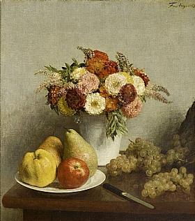 Henri Fantin-Latour, Fleurs et fruits - GRANDS PEINTRES / Fantin-Latour