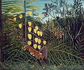 Henri Rousseau, Le combat du tigre et du buffle - GRANDS PEINTRES / Rousseau