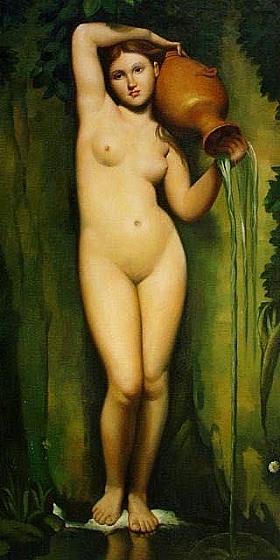 Jean-Auguste Ingres, La Source - GRANDS PEINTRES / Ingres
